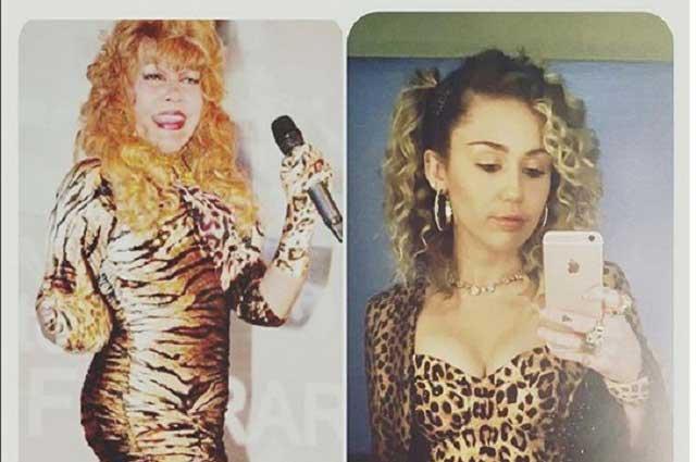 Se burlan y ofenden a La Tigresa del Oriente por llamar hija a Miley Cyrus