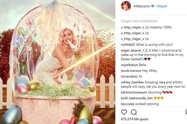 La foto de Miley Cirus que Instagram podría censurar
