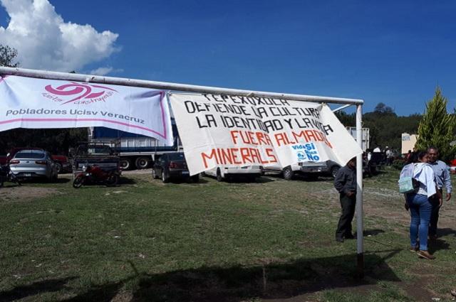 Activistas se adelantan a consulta minera en Ixtacamaxtitlán
