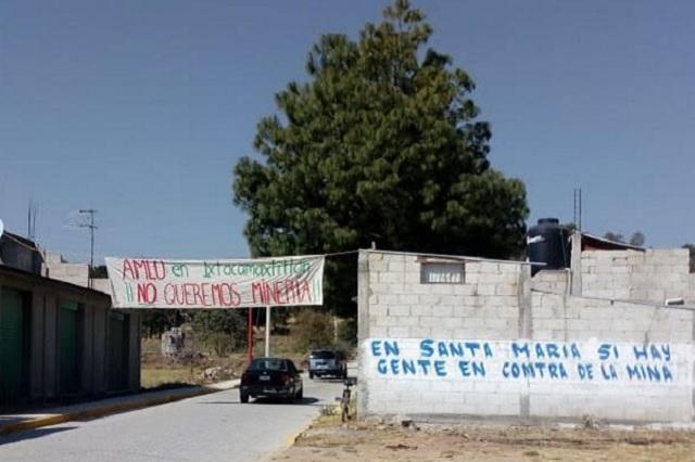 Mina desaparecerá comunidad en Ixtacamaxtitlán, acusan