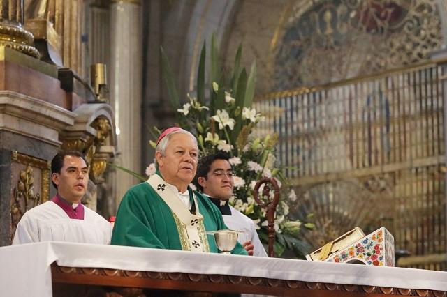 Pide arzobispo Sánchez a los candidatos, propuestas, no ofensas
