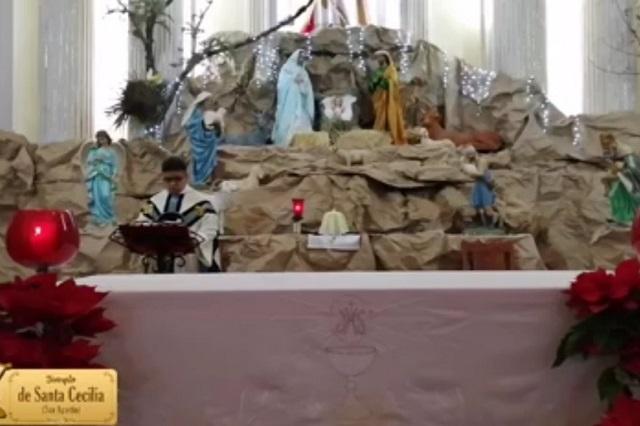 Iglesias en Atlixco abren sus redes sociales por Covid-19