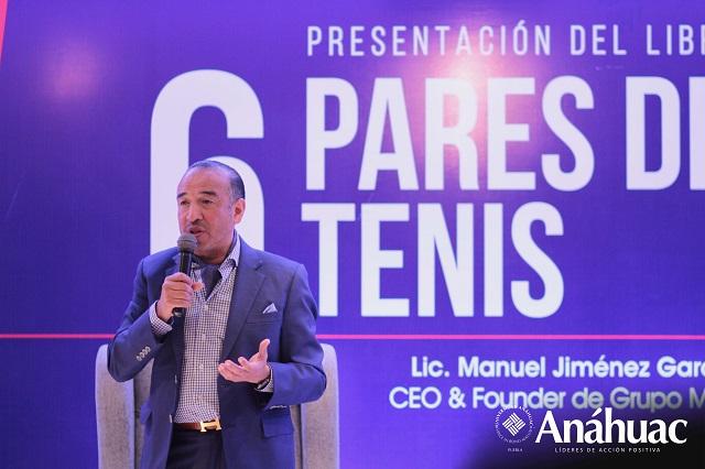 Fundador de Mister Tennis presenta libro en la Universidad Anáhuac