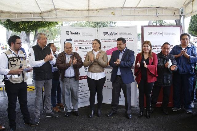 Inicia modernización del alumbrado público en la capital