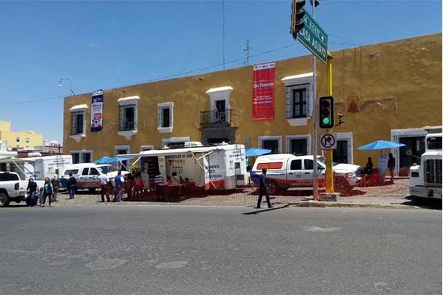 Con módulos de Salud impiden nueva manifestación de Fernández Noroña
