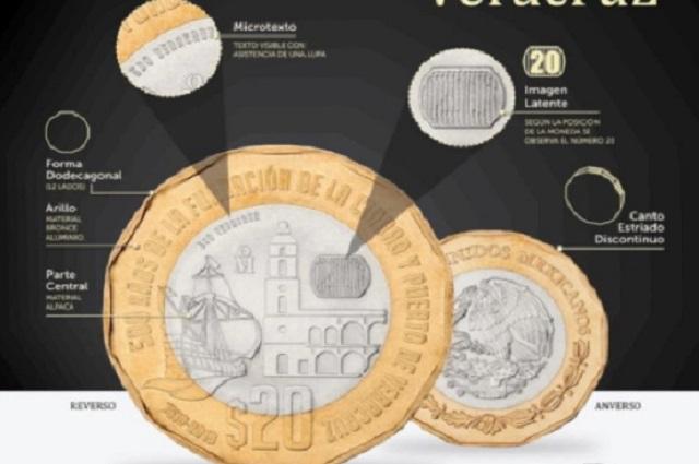 ¿Cuáles son los detalles de moneda de 20 pesos que venden en 27 mil pesos?