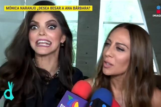 Mónica Naranjo alaba los atributos de Ana Bárbara y no descarta besarla