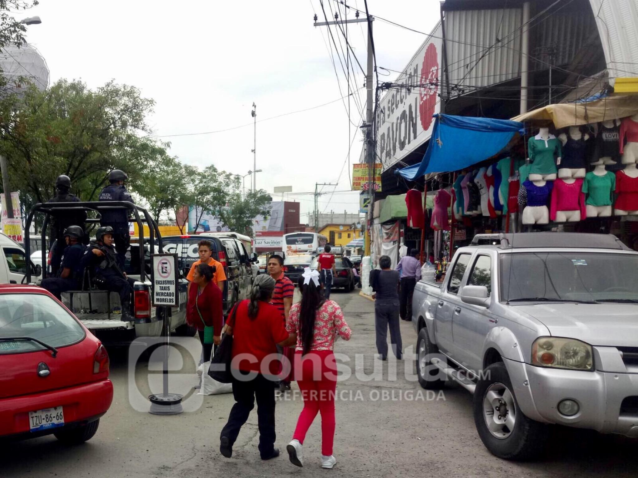 Nueva riña en mercado Morelos deja dos heridos; uno, con arma blanca