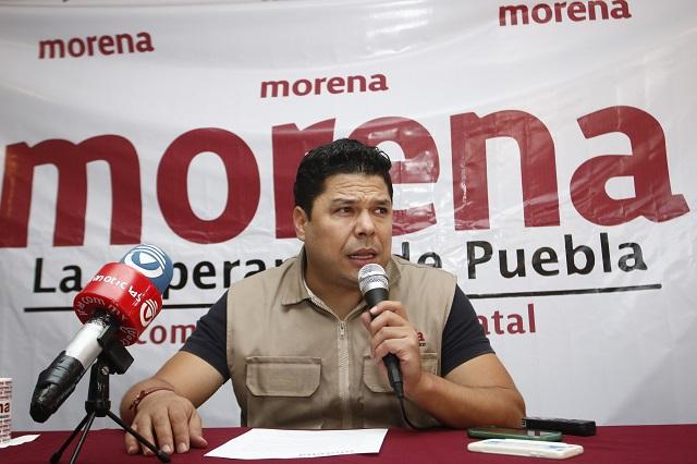 Morena recaba pruebas de campaña anticipada de Moreno Valle: Biestro