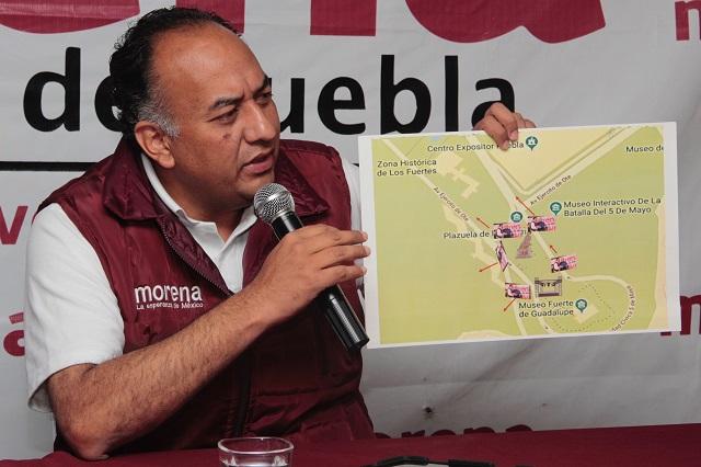 Denuncia Morena bloqueo de SIMT a su cierre de campaña