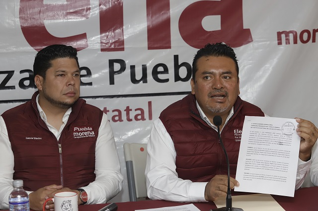 IEE retrasa registro de Eleazar Pérez, como candidato en Atlixco: Morena