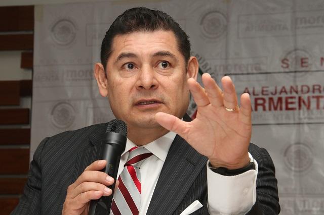 Moreno Valle solo asumió una posición de minoría: Armenta