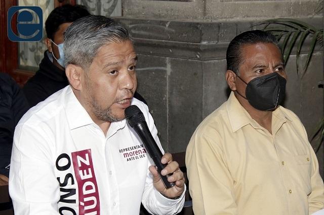 Morena interpone denuncia por guerra sucia contra Claudia Rivera