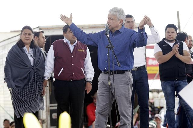 Obrador visitará 11 municipios de Puebla durante la campaña