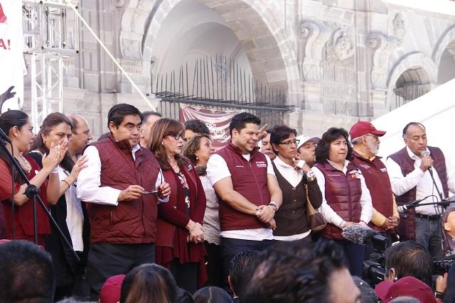Llama Barbosa a crear el Frente contra gobierno de Martha Erika