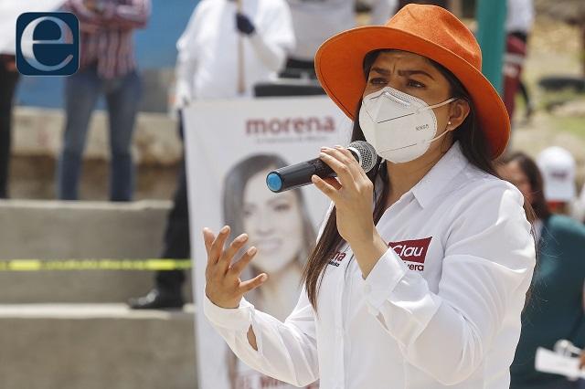 Rechaza Claudia Rivera robo de lajas del zócalo