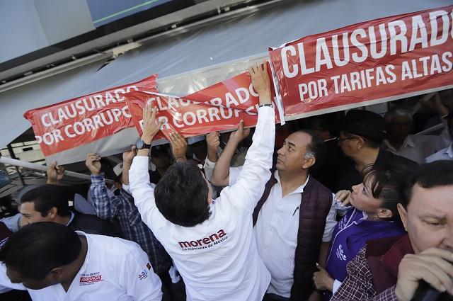 Fue Agua de Puebla la que agredió a manifestantes, dice de la Sierra