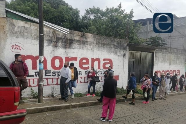 Retrasan votación en Huauchinango por propaganda de Morena