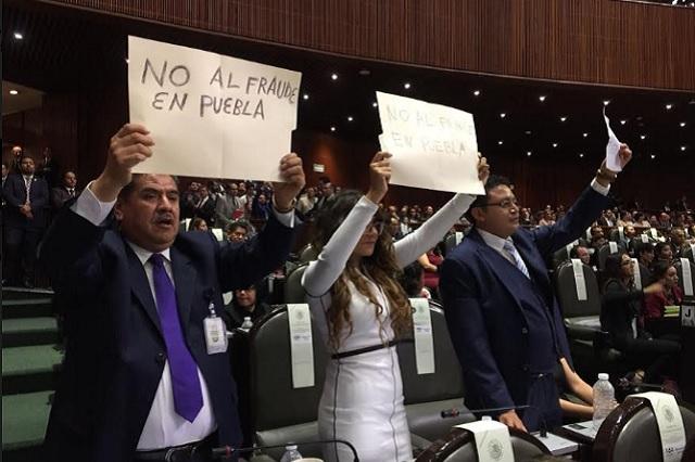 Diputados federales de Morena exigen justicia electoral de Puebla