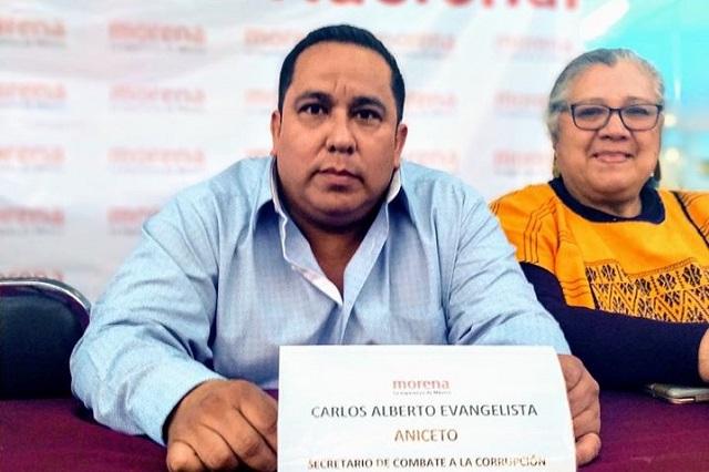 Nombran a Carlos Evangelista delegado de Morena en Puebla