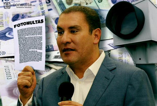 Sólo es de 25% el reintegro por fotomulta en Puebla, aclaran