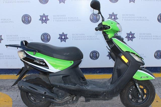 Detienen en Agua Santa a menor de edad con motocicleta robada
