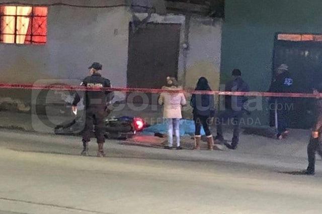 Persiguen y ejecutan a un motociclista en Texmelucan