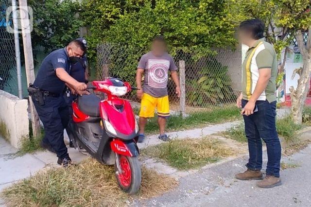 Venden motoneta robada, el dueño encara a los ladrones