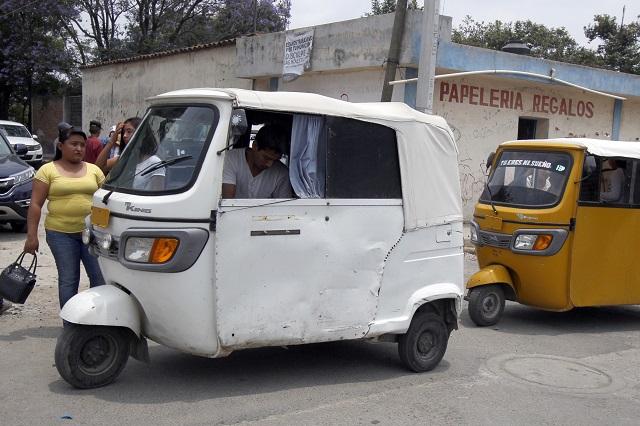 Demandan cesar operativos contra mototaxis, tras riña