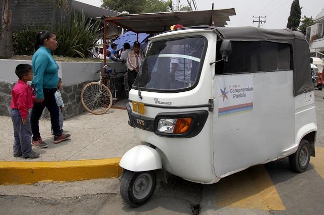 Piden incluir a mototaxis en Ley de Transporte de Coronango