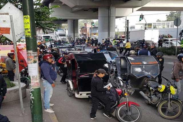 Decomisan mototaxis en Tláhuac que habrían sido halcones de El Ojos