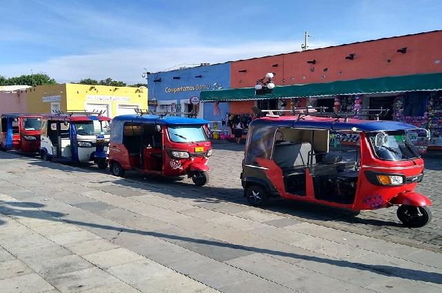 Circulan en el valle de Atlixco 350 mototaxis