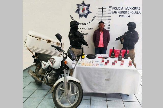 Cae en San Pedro Cholula asaltante de tiendas Oxxo