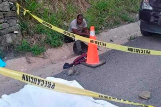 Niña migrante haitiana muere atropellada en Tabasco