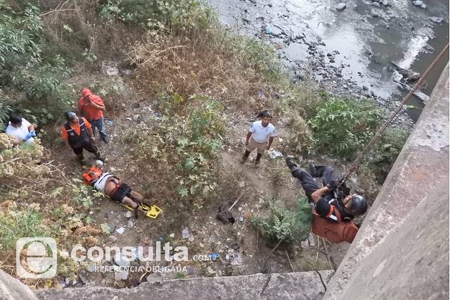Tras 9 días de agonía, muere hombre que se arrojó al Atoyac