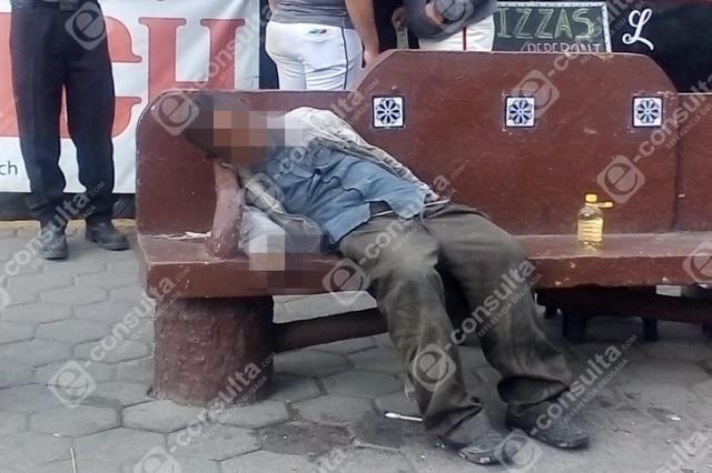 Muere sexagenario en parque de San Felipe Hueyotlipan