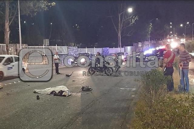 Muere motociclista tras choque en el bulevar Vicente Suárez