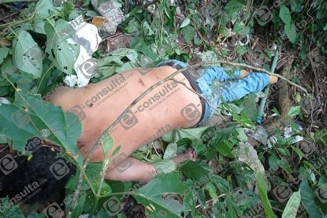 Hallan cadáver de hombre en barranco de Venustiano Carranza