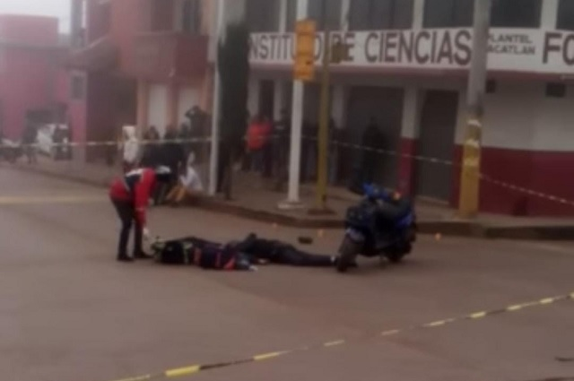 Matan a hombre y lesionan a mujer tras balacera en Zacatlán