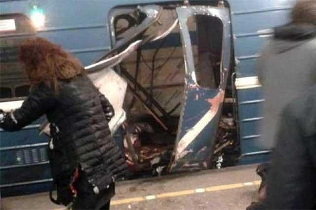 Sube a 14 el número de muertos en ataque al Metro de San Petersburgo