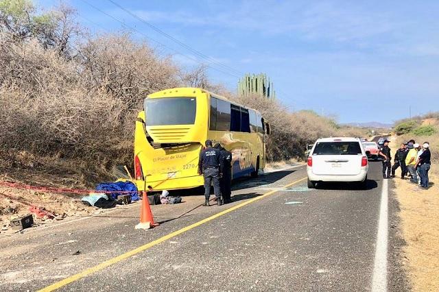 Ya son 9 los muertos por volcadura de autobús Oro en Acatlán