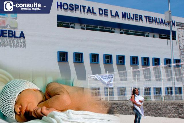 Nace bebé en la calle, afuera del Hospital de la Mujer en Tehuacán