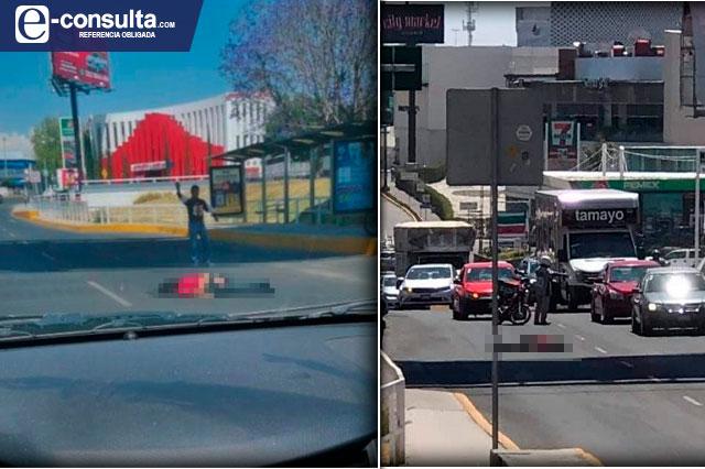 Mujer se arroja de puente sobre la avenida Atlixcáyotl