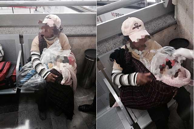 Capturan a una mujer que llevaba un niño muerto envuelto en cobijas
