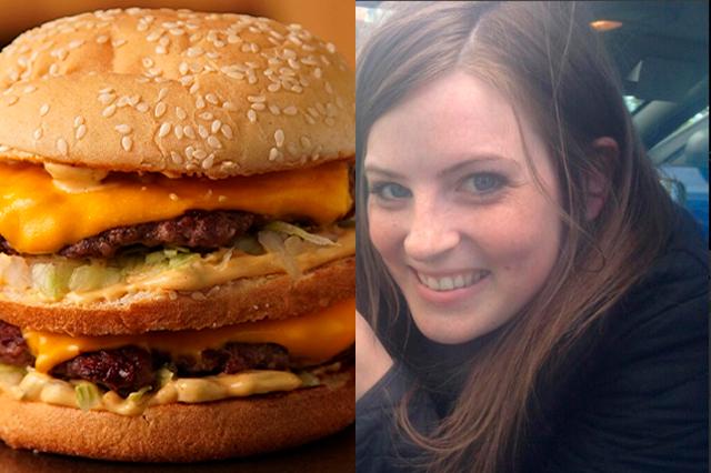 Mujer mordió una hamburguesa triple y se dislocó la mandíbula