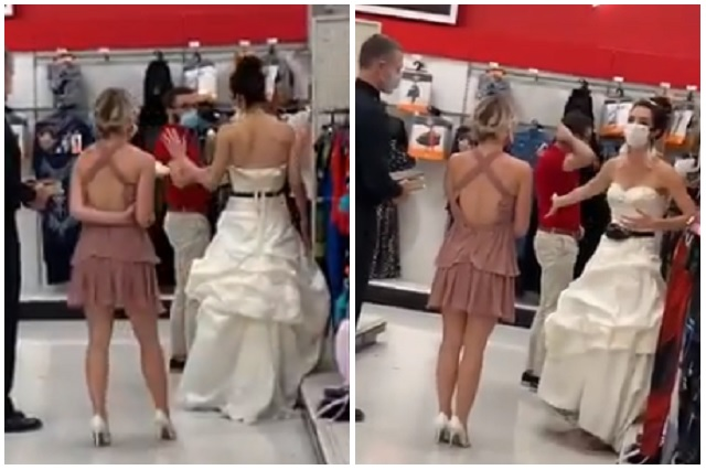 Lleva la boda al trabajo de su novio; lo sorprende con vestido y sacerdote