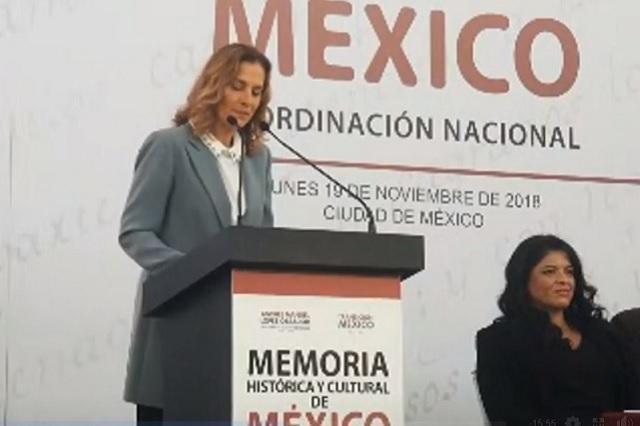 Beatriz Gutiérrez presidirá el proyecto Memoria Histórica y Cultural de México