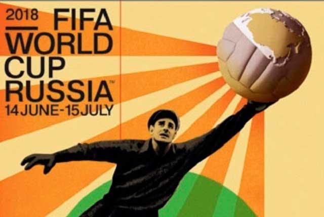 Lev Yashin, la Araña Negra, ilumina poster oficial del mundial Rusia 2018