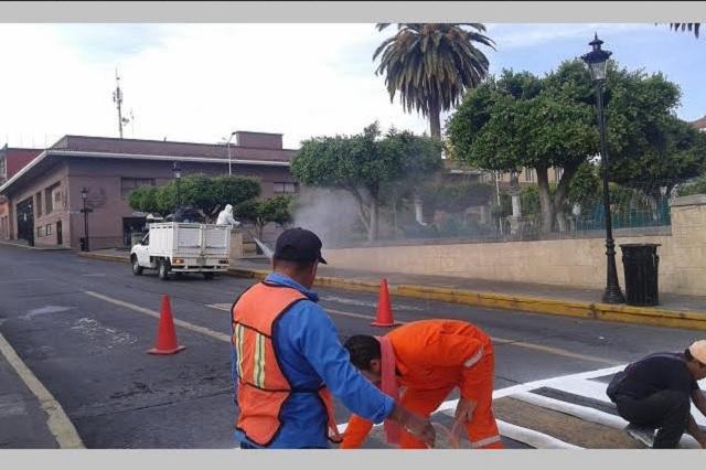 Calles de Teziutlán lucen desiertas tras la cero movilidad