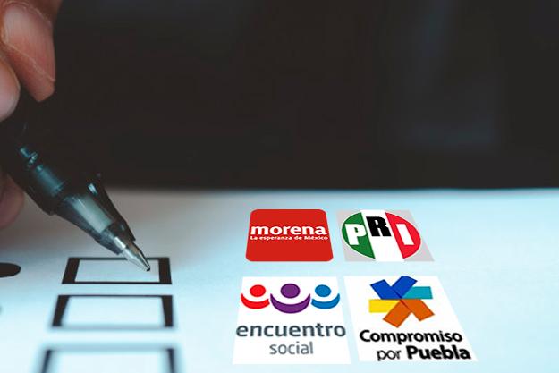 PRI gana Ahuazotepec, Ocoyucan y Cañada; Morena solo Tepeojuma
